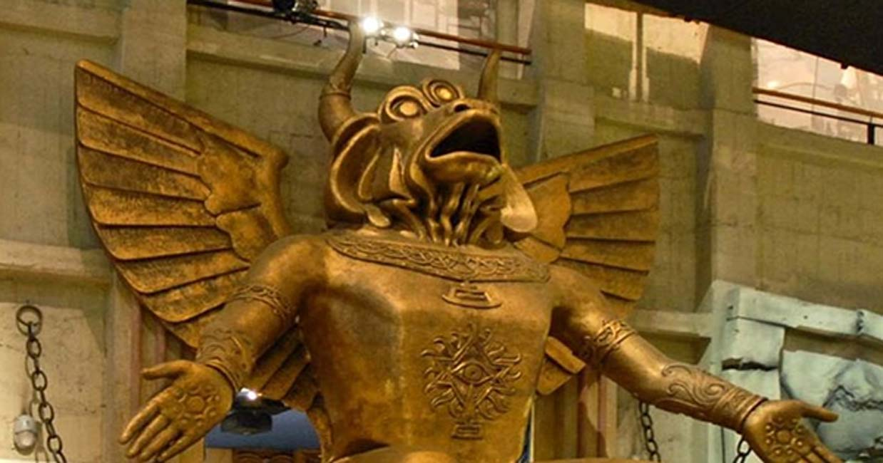 Statue of the god Moloch, Turin Cinema Museum.