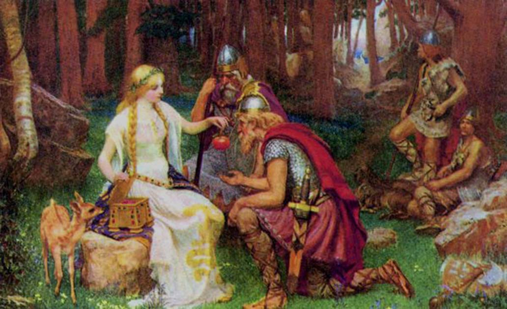 'Idun and the Apples' (1890) by J. Doyle Penrose.