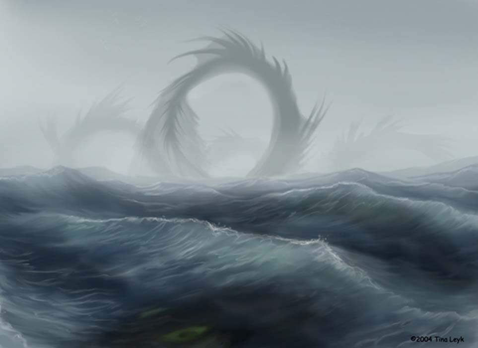 Illustration of a sea serpent. Credit: Tina Leyk / deviantart