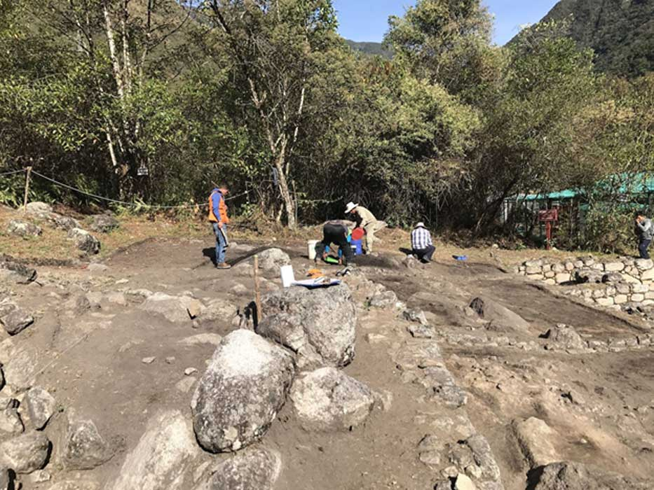 Ceremonial Inca baths have been found at the complex in Chachabamba, Machu Picchu National Park in Peru.