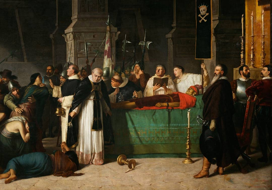The Funeral of Atahualpa by Luis Montero