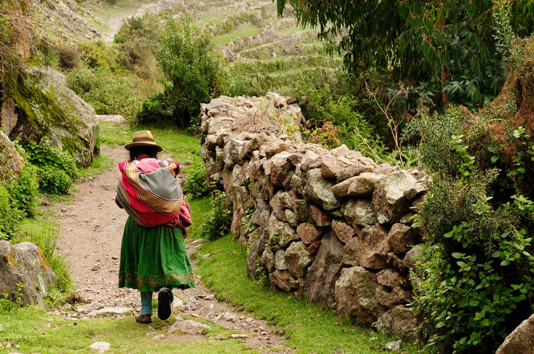 Peru, old Incan road in the canyon Cotahuasi.