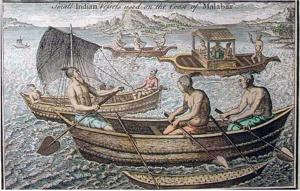 Indian sailing vessels from a 1745 AD.