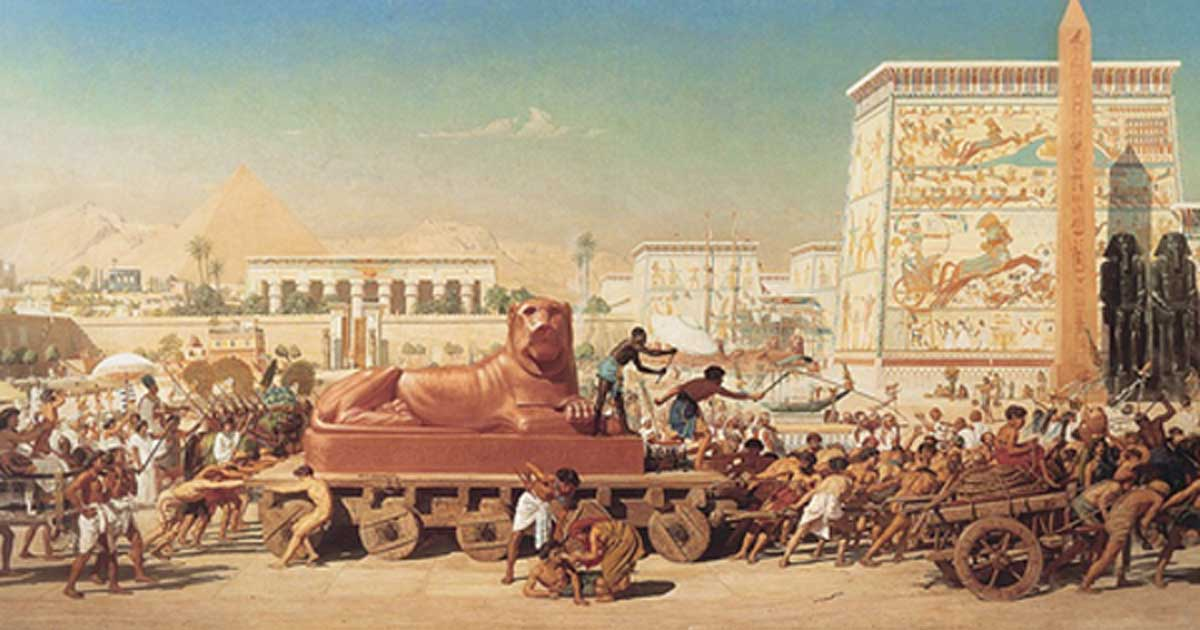 """Israel in Egypt"" by Edward Poynter, 1867"