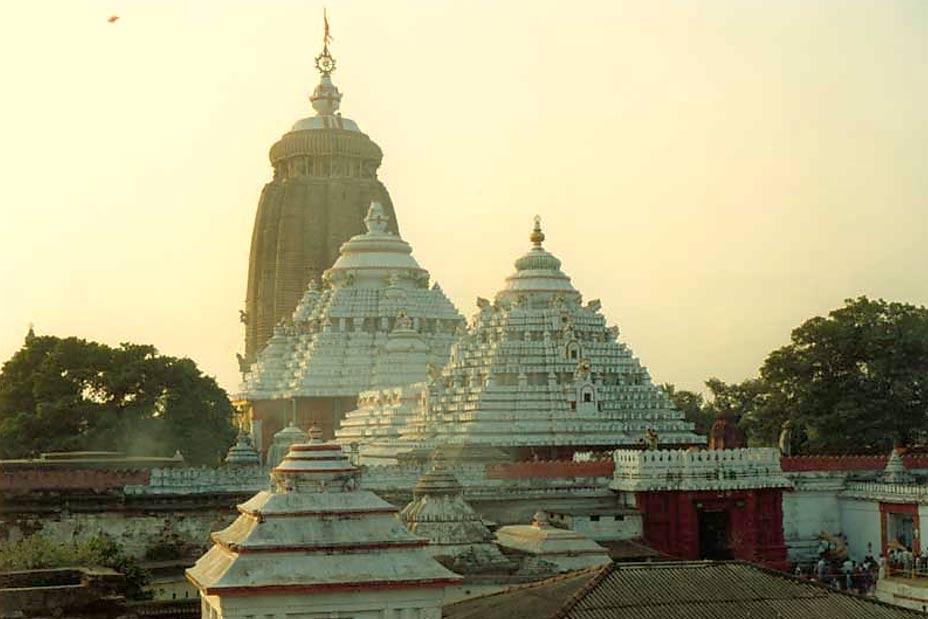 The Jagannath Temple in Puri.
