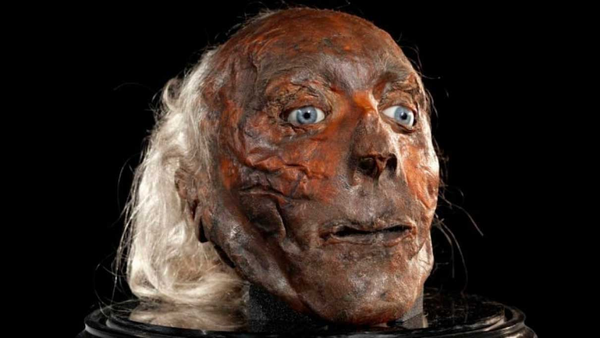 The mummified head of Jeremy Bentham