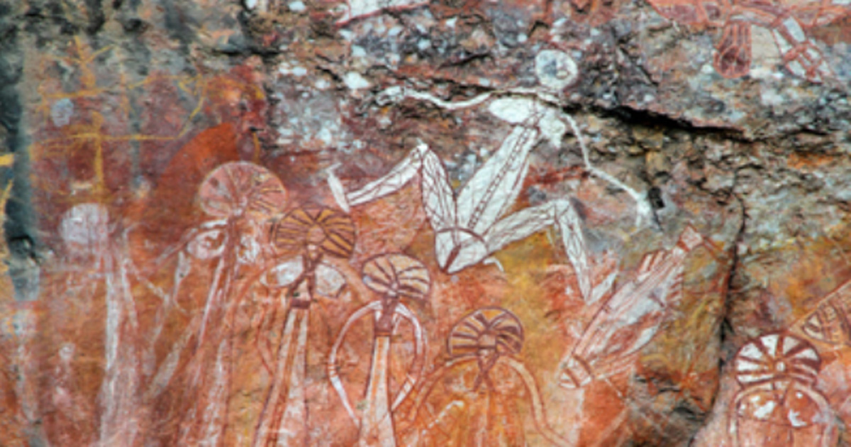 Aboriginal rock art at Nourlangie, Kakadu