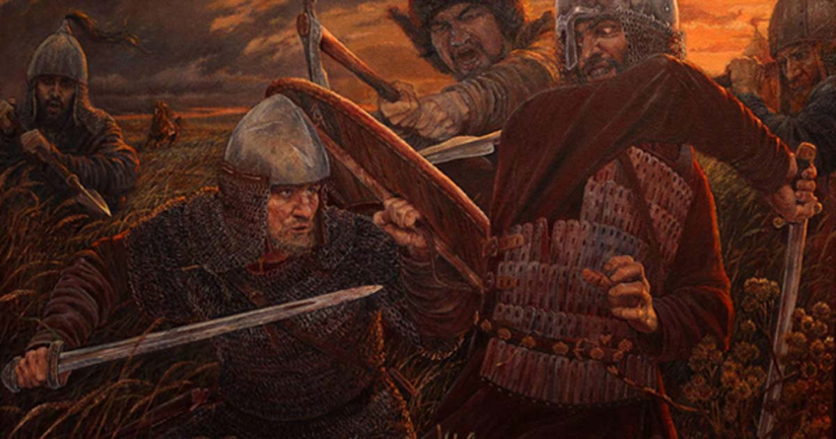 'Invincible' a modern depiction of a battle between Rus and Khazars.