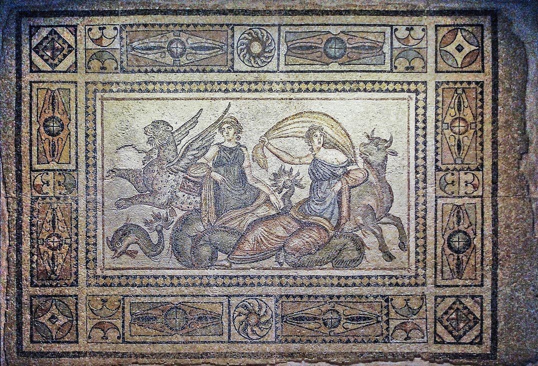 The Kidnapping of Europa Mosaic, the Zeugma Mosaic Museum, Gaziantep, Turkey