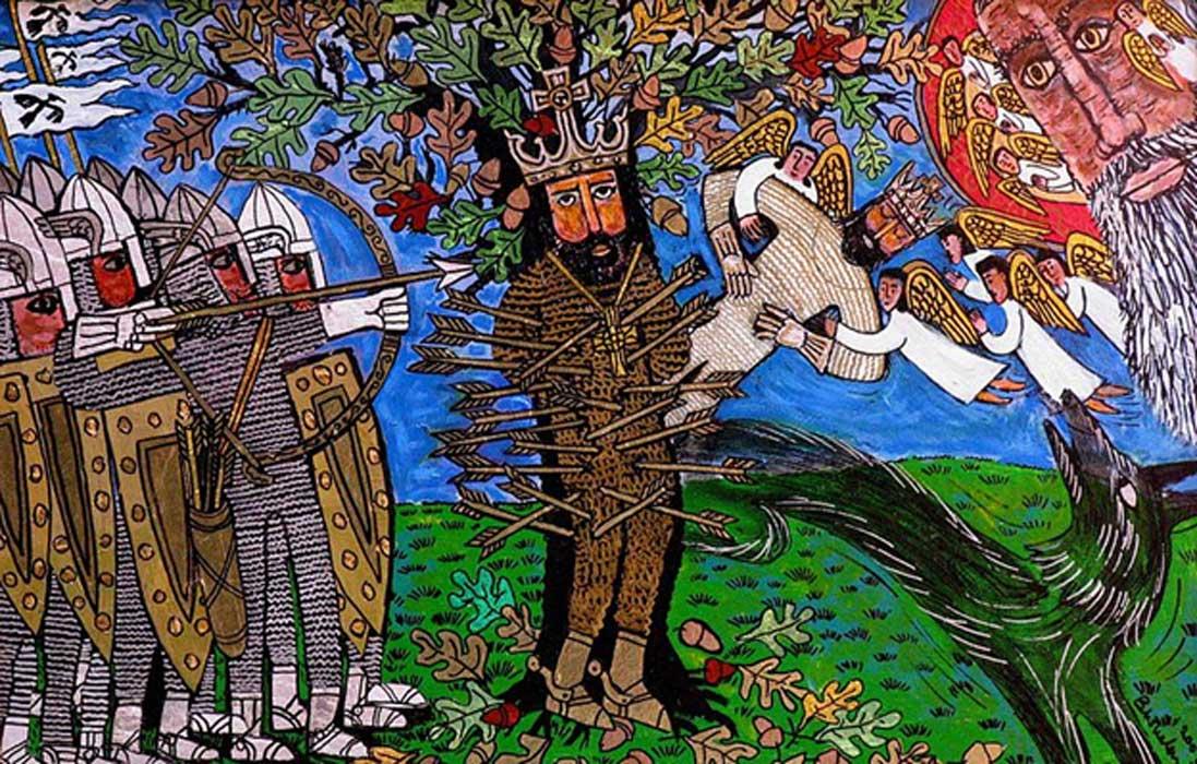 Martrydom of St Edmund by Brian Whelan
