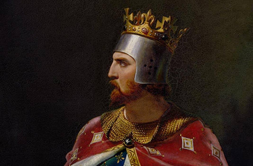 King Richard I portrait detail
