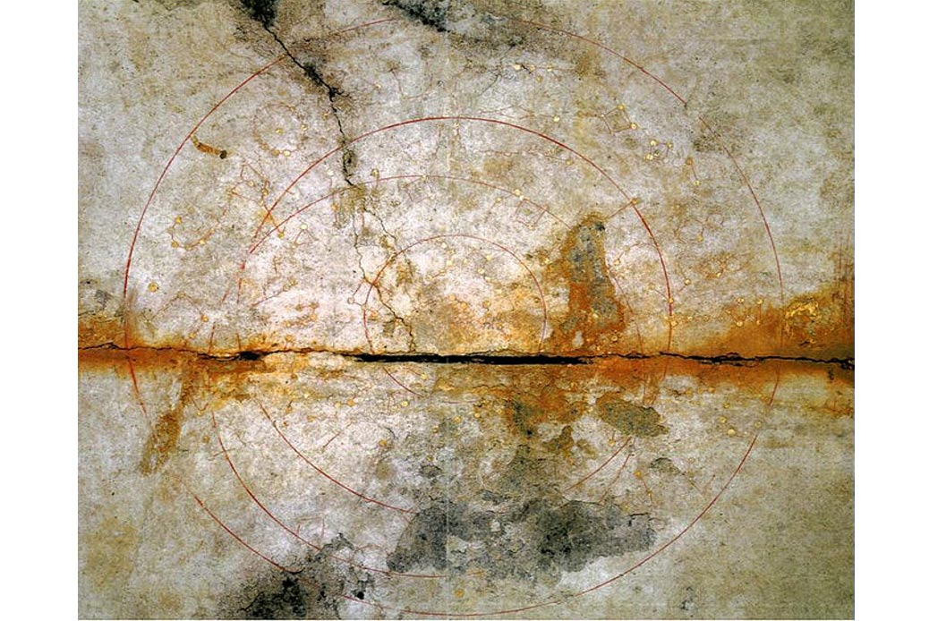 The star chart painting on the ceiling of the Kitora Tomb, Asuka, Japan