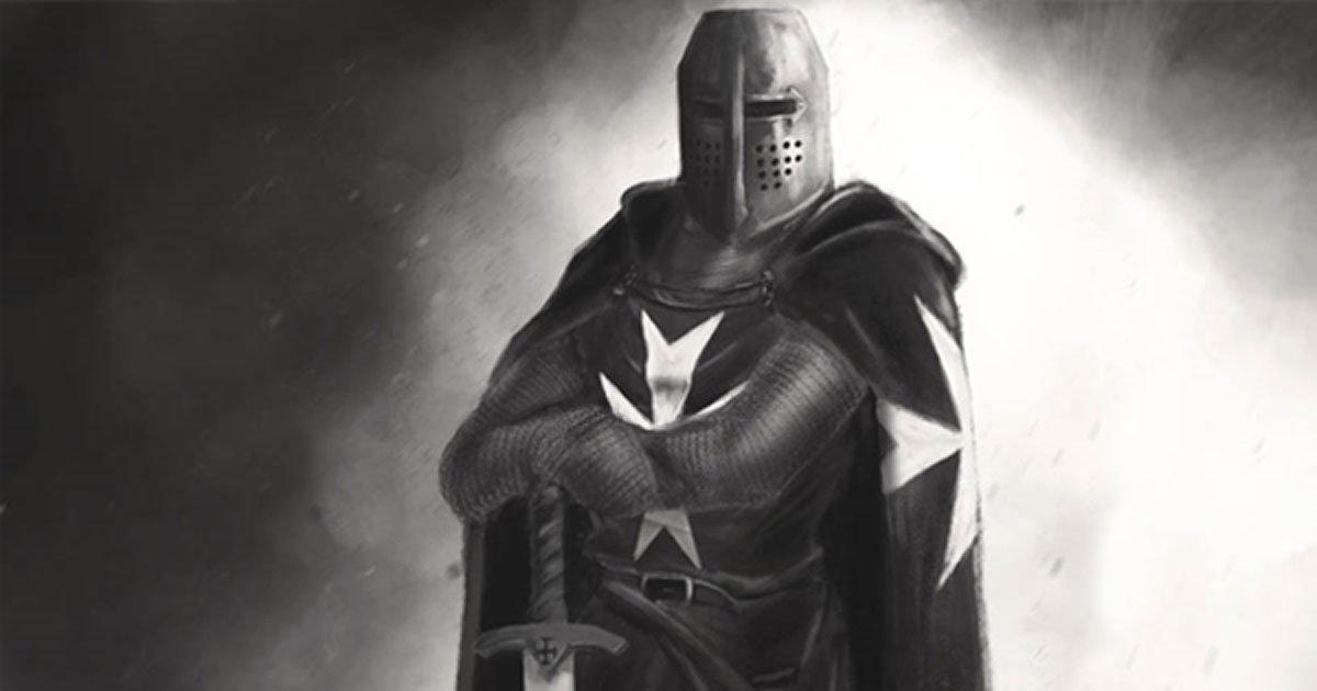 A modern representation of a member of the Knights Hospitallers.
