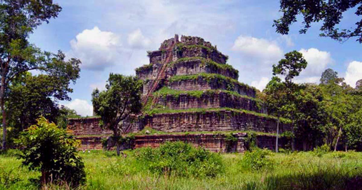 The Koh Ker pyramid, Cambodia.