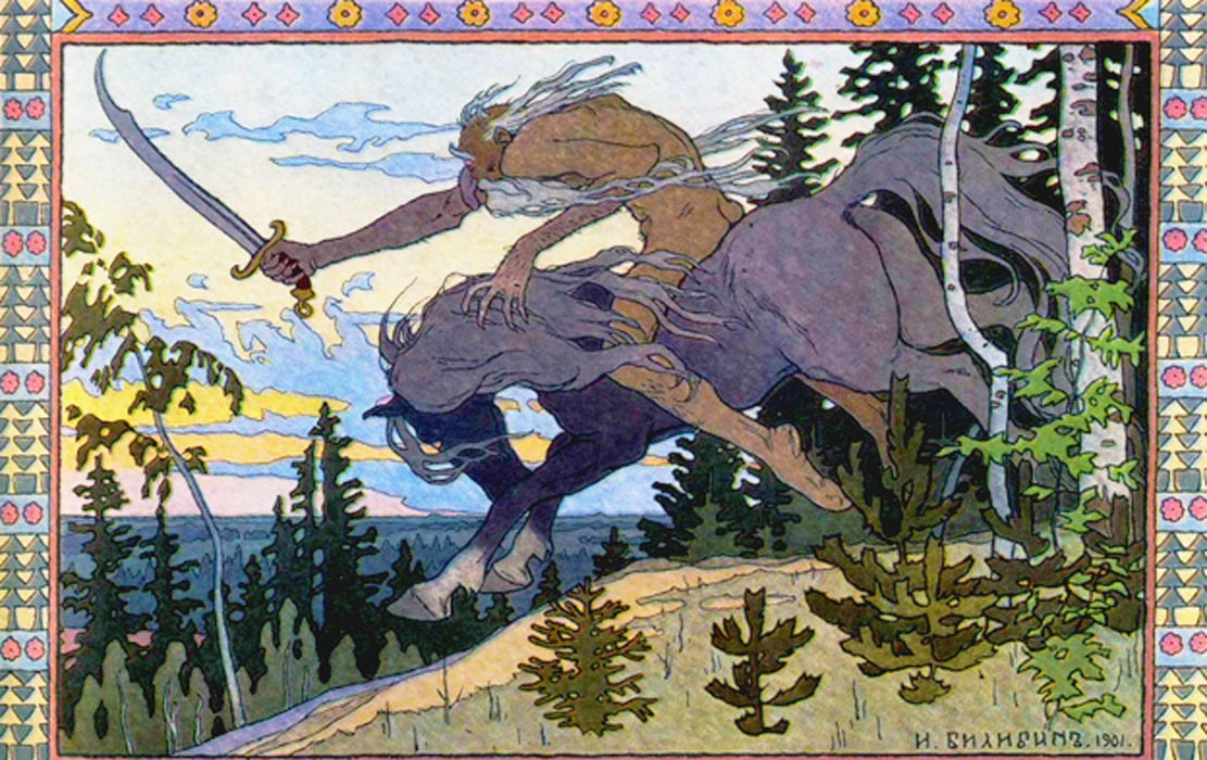Immortal Koschei the Deathless on his enchanted steed