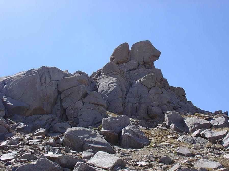 The summit of Kuh-e Alvand, northwestern Iran.