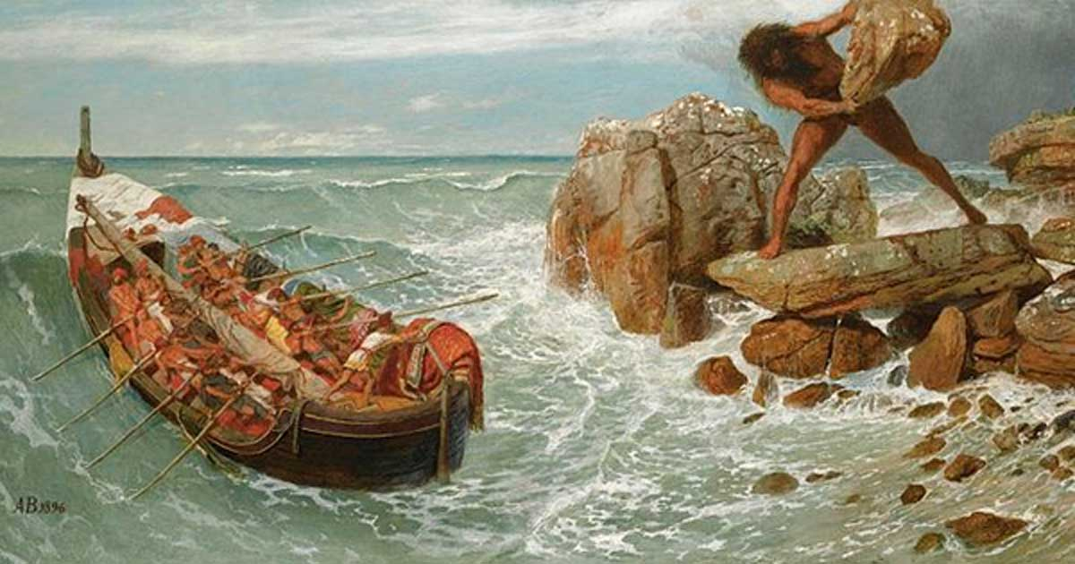 Odysseus and Polyphemus, Arnold Bockling. Polyphemus is one of the only Cyclopes recognized by name.