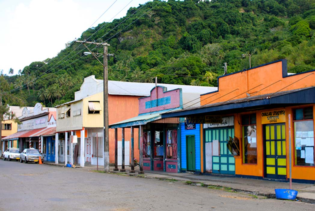 Main Street, Levuka historical port town.