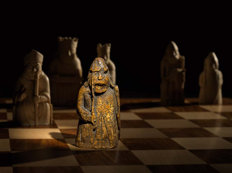 The newly discovered medieval chess piece, one of the Lewis Chessmen, had been missing for almost 200 years. Source: Courtesy of Sotheby's.