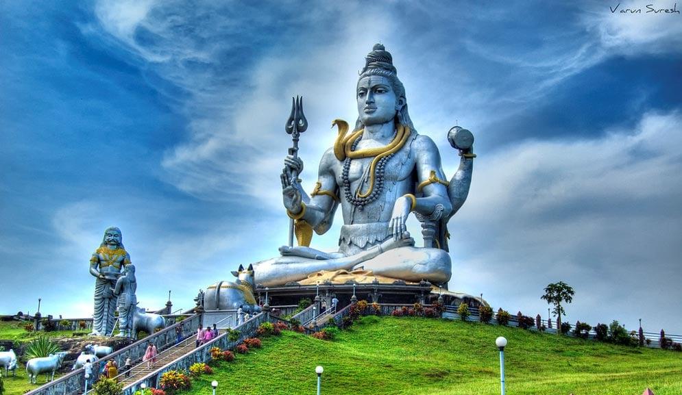 HDR of the giant statue of Lord Shiva at Murudeshwar, Karnataka, India