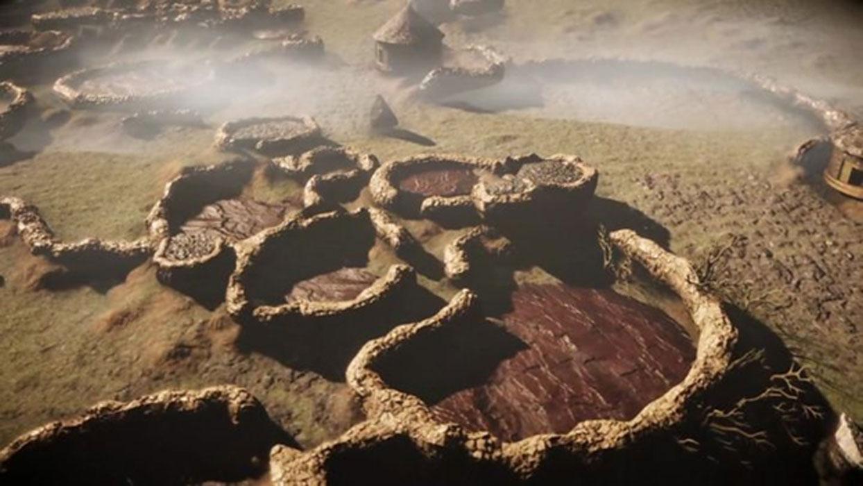 A digitally-developed 3D satellite image of Kweneng