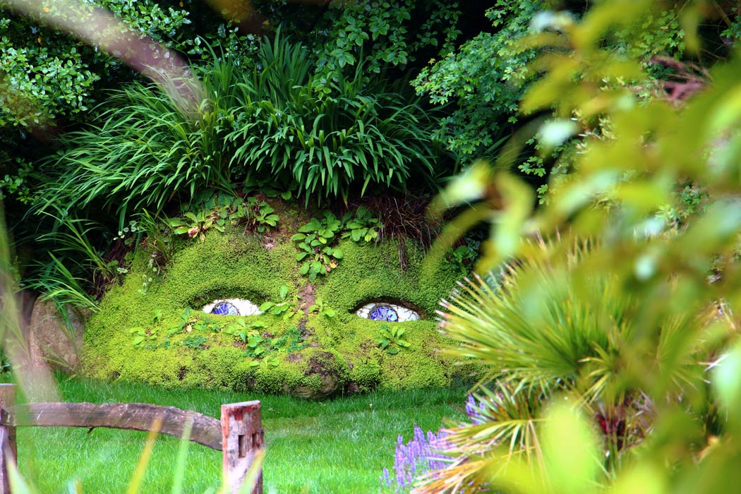 One of the living statues at the Lost Gardens of Heligan.