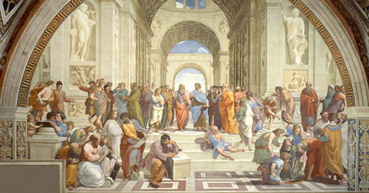 Rafael's School of Athens, depicting Plato's Academy.