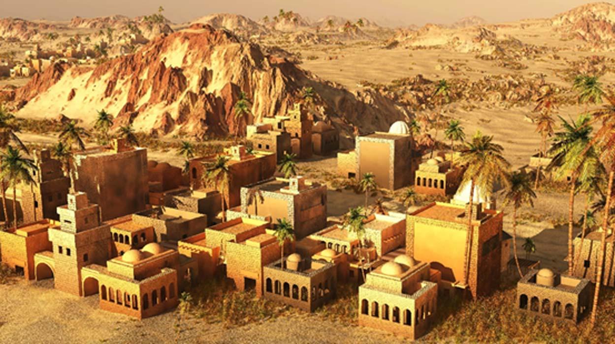 3D reconstruction of an ancient Mesopotamian city.