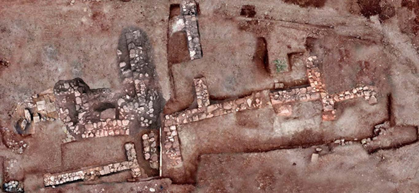 Aerial image of what is thought to be the lost city of Tenea.