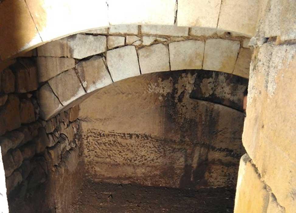 Inside one of the tunnels under Valetta, Malta.