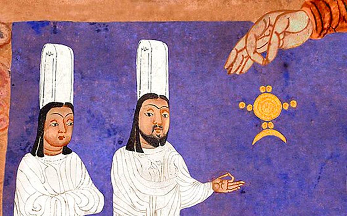 Detail of a Manicheanism scene.