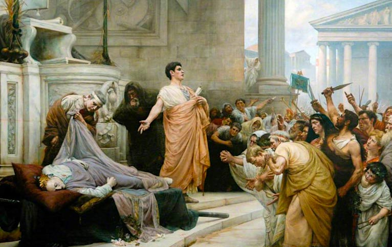 Mark Antony's oration at Caesar's funeral
