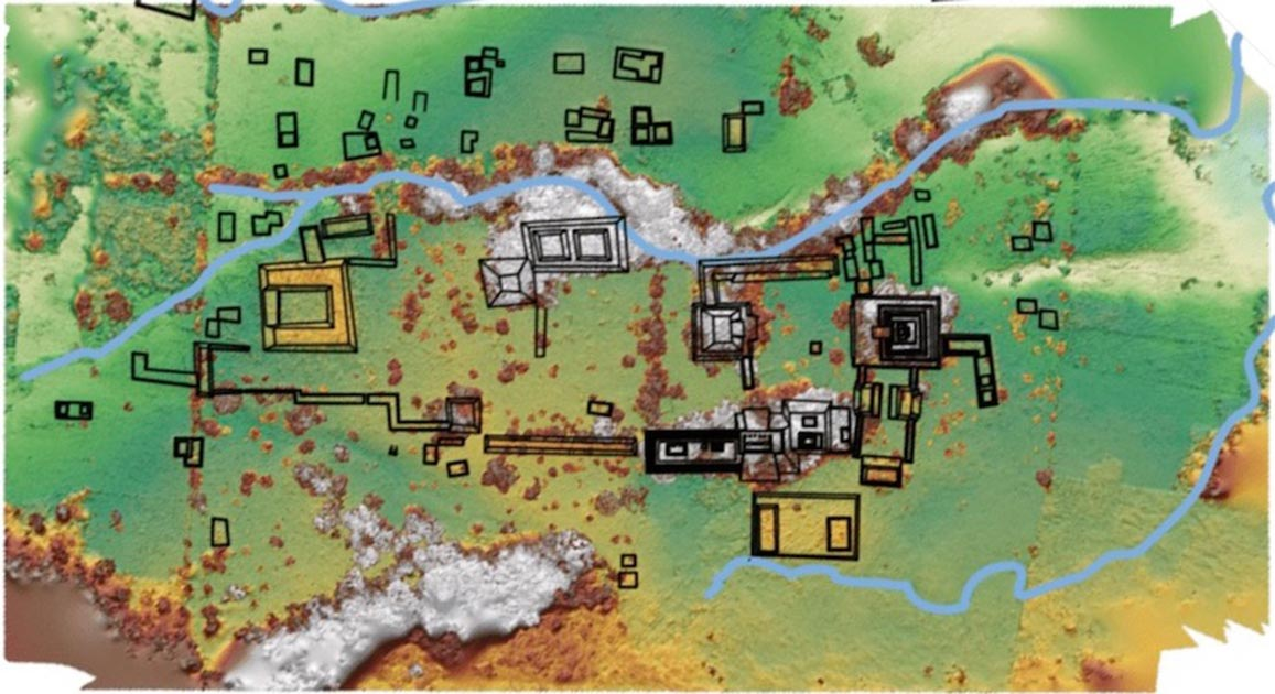 ap of the Maya Kingdom, Sak Tz'i, unearthed in Mexico.     Source: Charles Golden / Brandeis University