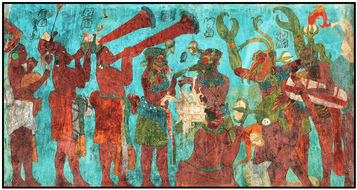 The music of the maya mysterious whistles confound for El mural de bonampak