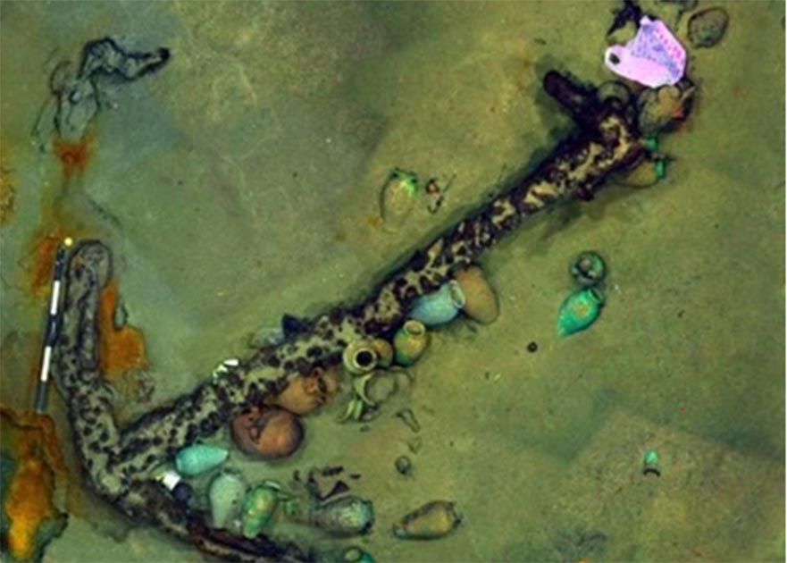 A 13-foot anchor found by the Ottoman shipwreck.   Source: ©Enigma Recoveries
