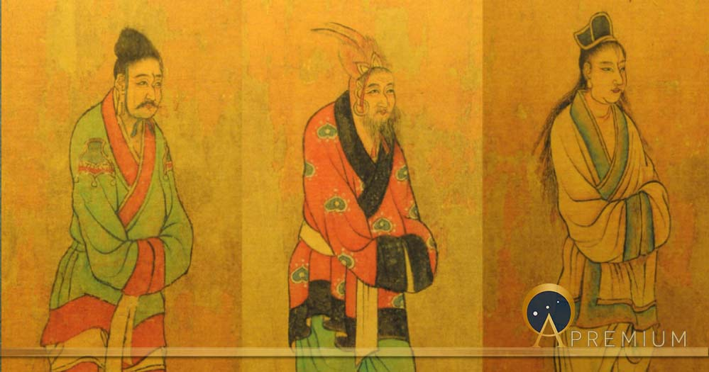 7th century Tang dynasty painting of envoys from the Three Kingdoms of Korea: Baekje, Goguryeo, and Silla (Public Domain)