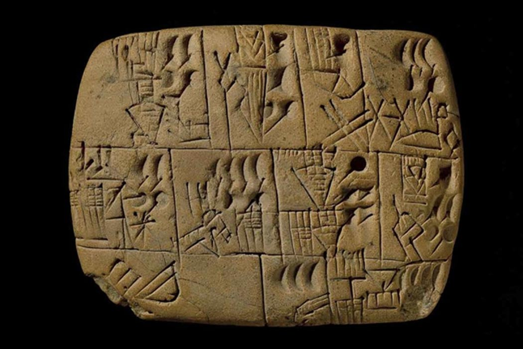This is the oldest known pay stub in the world, dating back 5,000 years to the city of Uruk in Mesopotamia. The wages were beer.