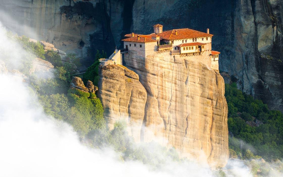Monastery in Meteora, Greece.