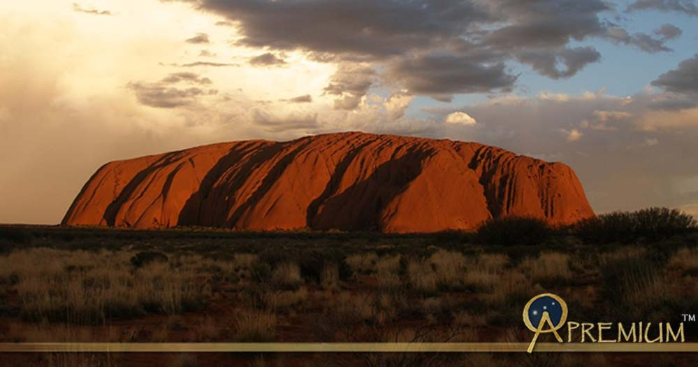 Sunset Ayers Rock Australian Outback Uluru