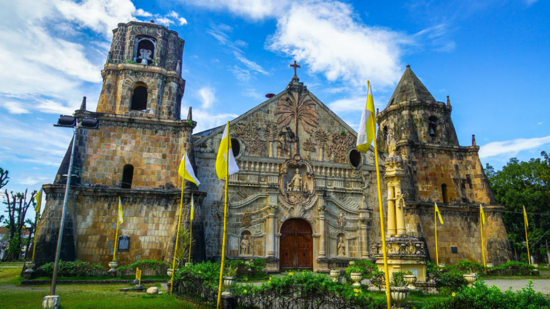 Miagao Church, a Baroque Spanish Style Historic Site, Philippines.      Source: nathanallen/ Adobe Stock