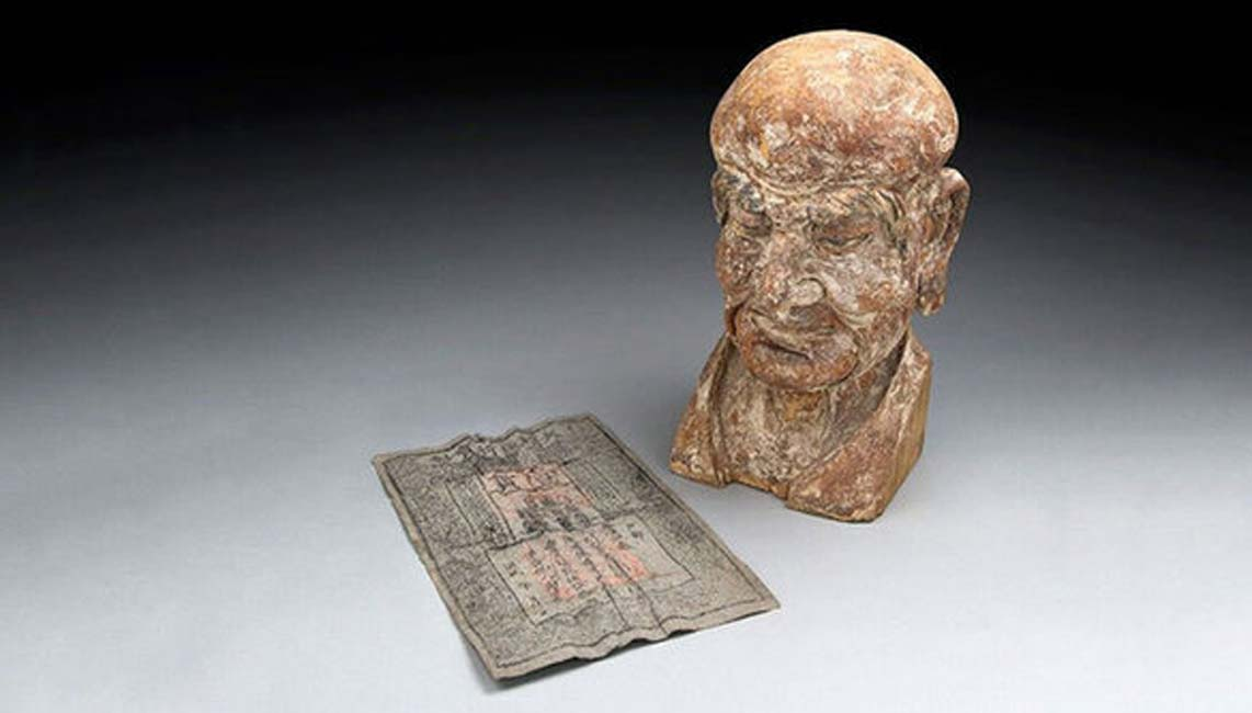 Rare Ming Dynasty Banknote Found Hidden Inside a Chinese Sculpture