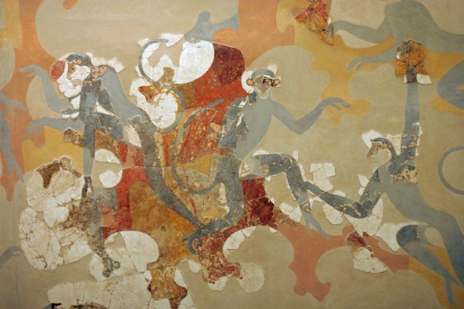 Minoan Monkey art in Akrotiri, Greece. Source: ZDE / CC BY-SA 3.0