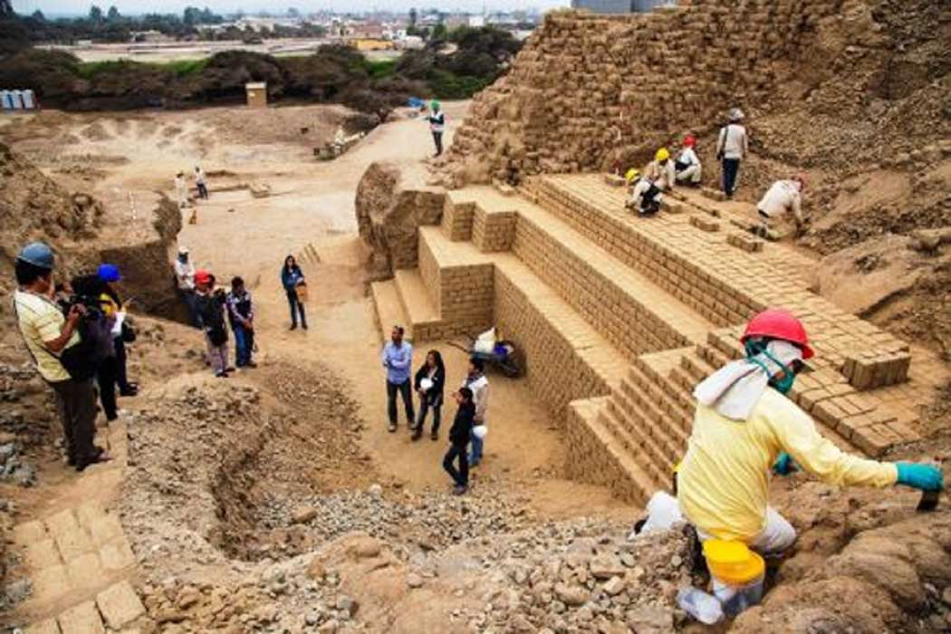 1500-year-old construction at Limon archaeological site, Peru