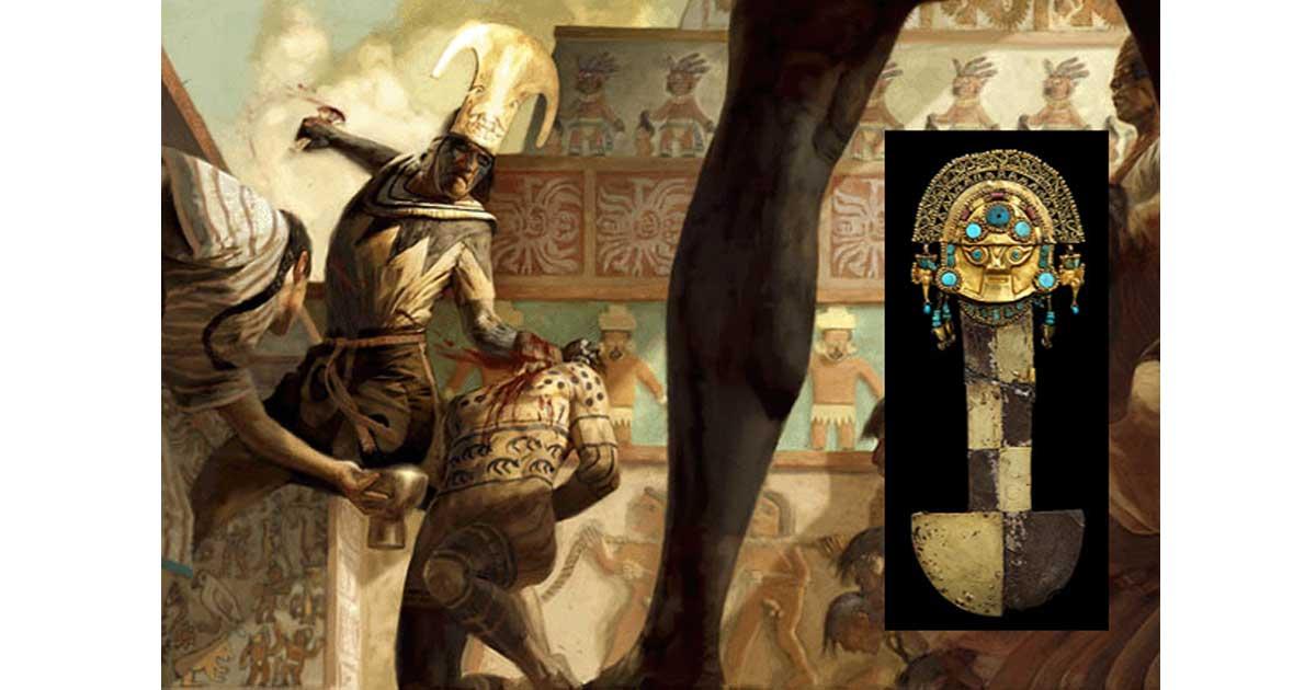 Moche Sacrifice Illustration