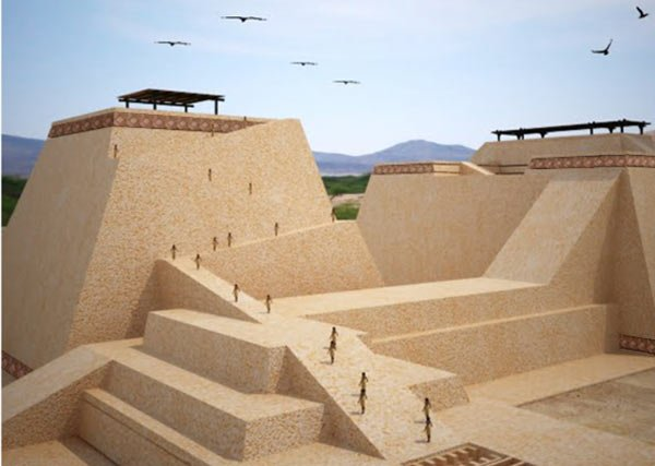The Mochican tomb complex of Huaca Rajada in Peru
