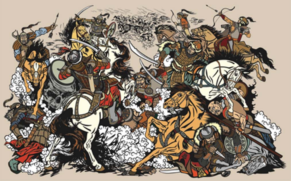 Battle between Mongols clans and tribes during the time of Genghis Khan. Source: insima / Adobe Stock.