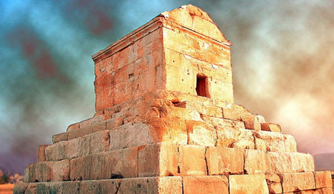 Pasargadae Tomb in Shiraz, Iran.
