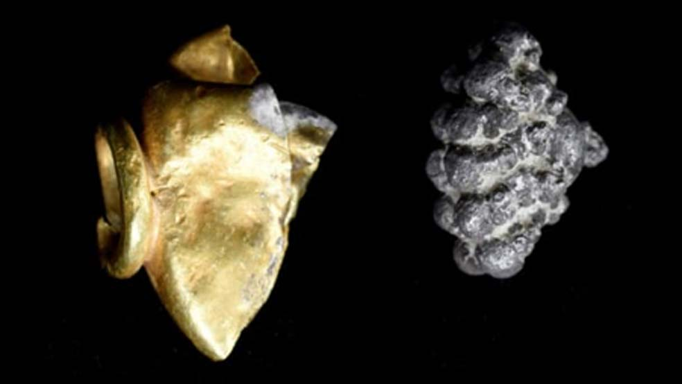 Jewel made of gold and silver found at Mt Zion. Credit: Mt Zion Archaeological Expedition/Virginia Withers