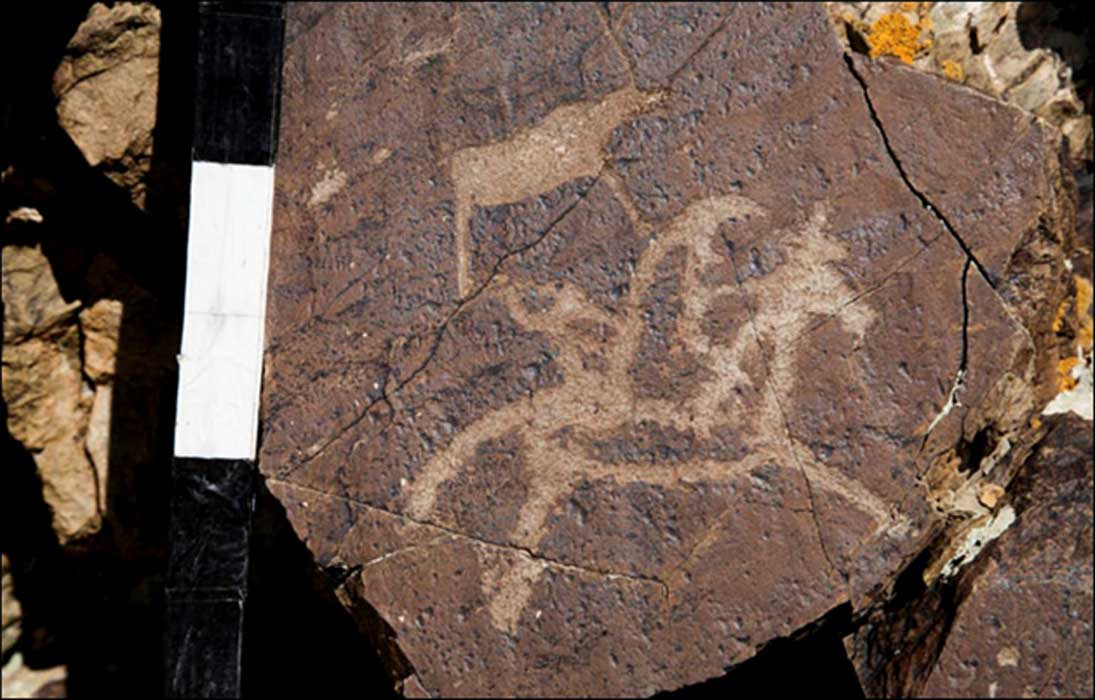Every major civilization added their own distinct imprint to the collection of rock art at Dus-Dag mountain.