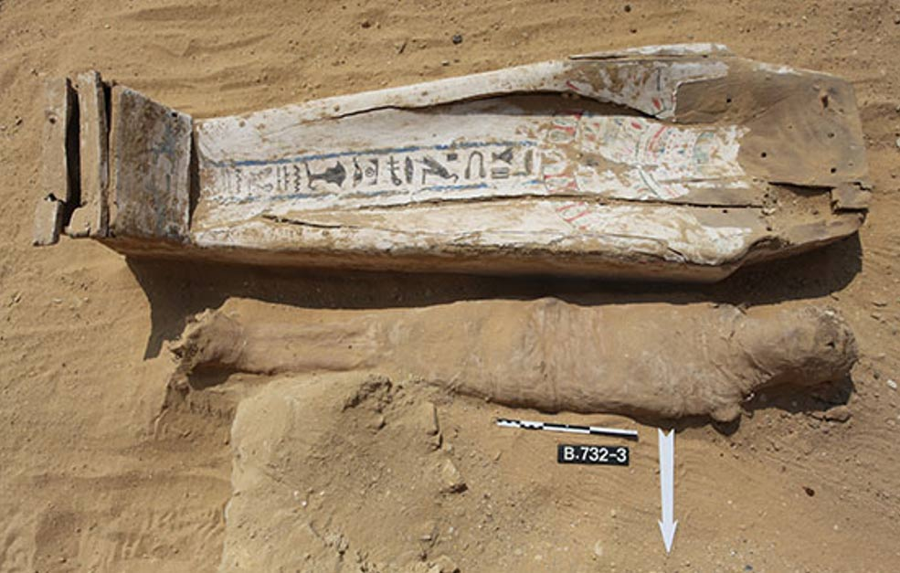 Most of the Saqqara mummies were poorly preserved and had decayed coffins